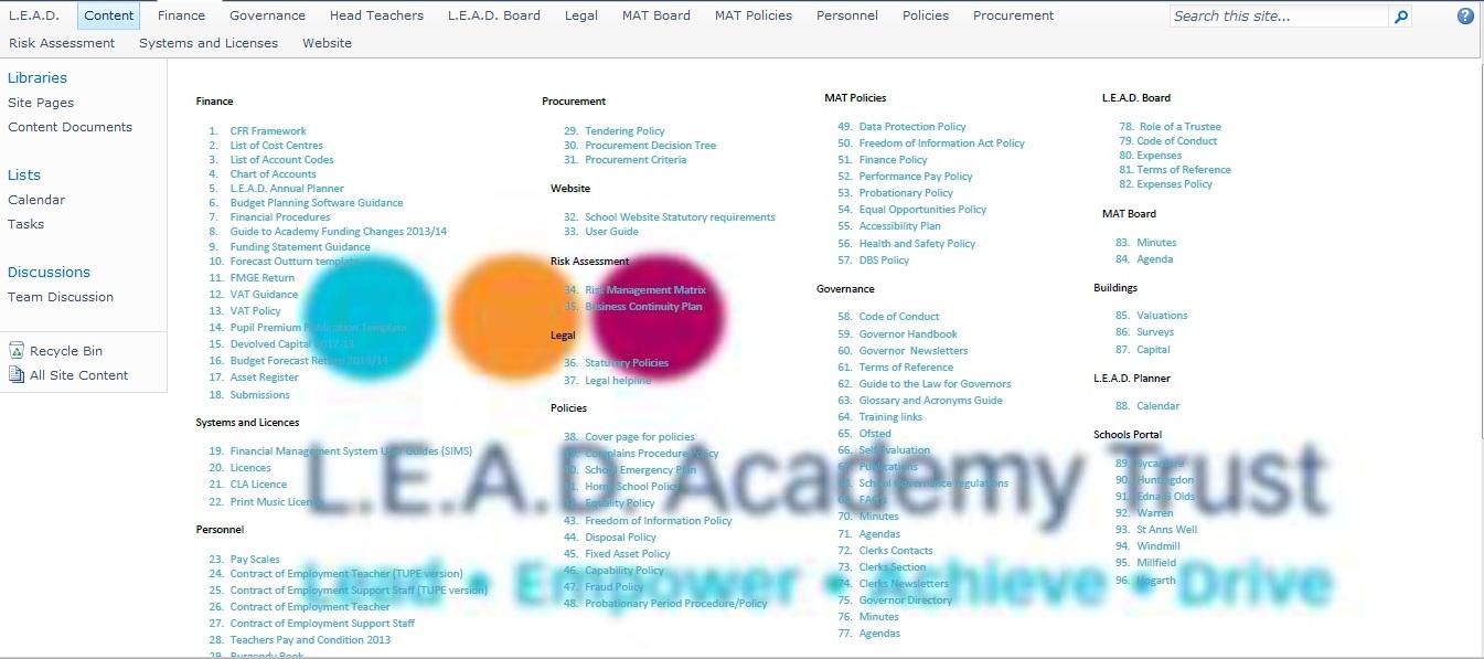 Portal - L E A D  Academy Trust